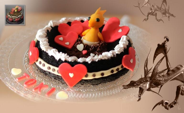 Gâteau des Valentions végétalien