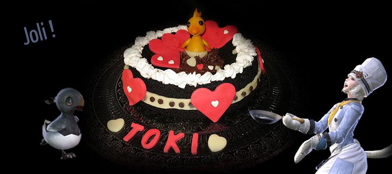 Gateau des valentions de Toktok